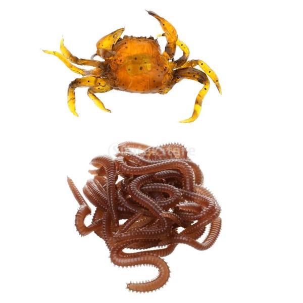 Perfk 釣りルアー 3D餌 カニ ワーム 脚動け 超活発 香り