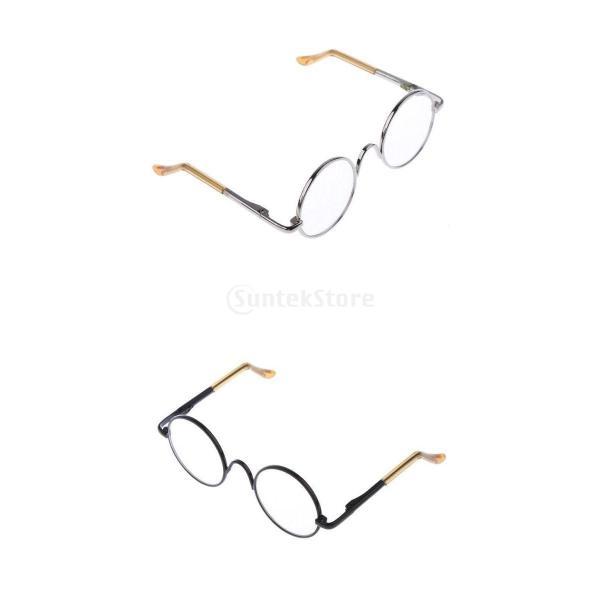 ファッション ドールアクセサリー 1/6スケール  アゾン リカドール用 クリアレンズ 眼鏡 メガネ 耐久性