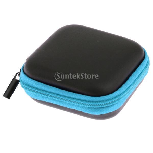 Fenteer イヤホン ヘッドフォン ヘッドセット イヤフォン用 正方形 3ピース ケース 収納バッグ ポーチ