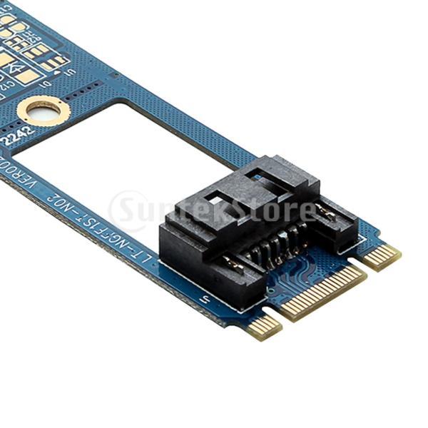 窓のための7pin sata 3.0 ssdのアダプターのコンバーターカード6.0gb / sへの2x m.2 ngff