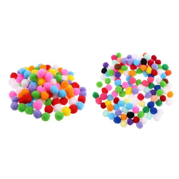 200個/個アソートカラーフェルトボールポンポンボールに購入DIYクラフト25 / 30mm