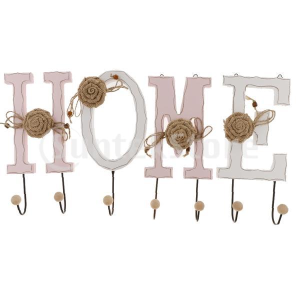 ウォールフック 樹脂 フック付き 壁 フック 花の装飾 鍵 傘 ピンク&ホワイト 浴室 洗面所 3個セット