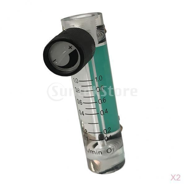 酸素流量計 酸素濃度計 制御弁付 計測機器 0.1-1L 2個