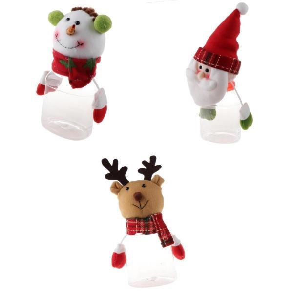 3個 キャンディジャー クリスマス用 キャンディーボックス スデコレーション