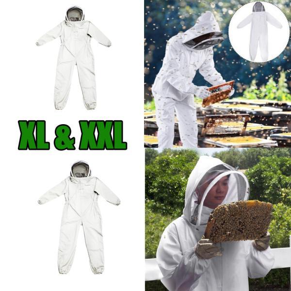 養蜂家蜂維持スーツジャケット安全ベール帽子ボディ2ピースXLとXXL