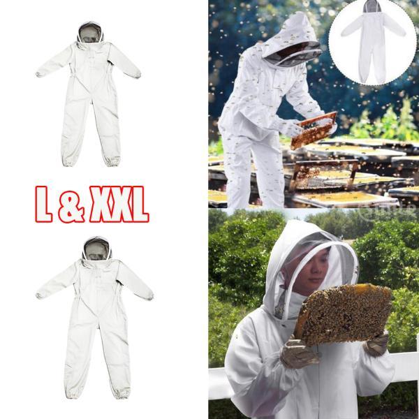 養蜂家蜂維持スーツジャケット安全ベール帽子ボディ2ピースLとXXL