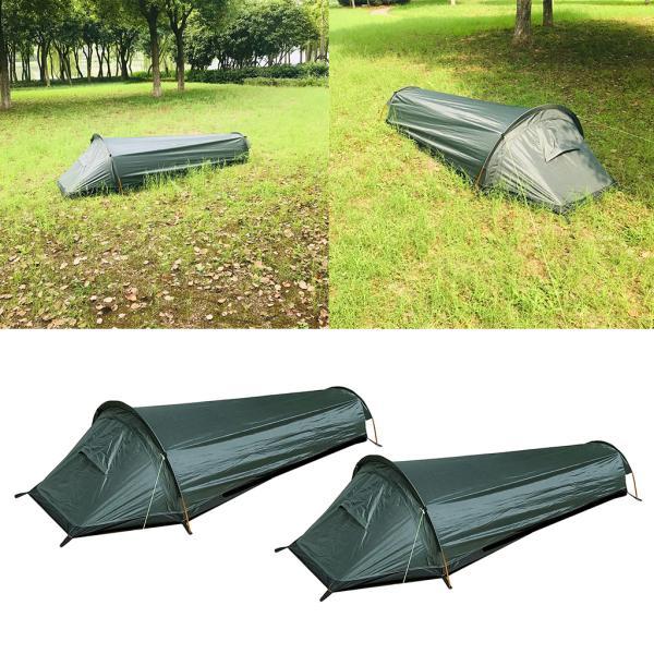 2pasポータブルキャンプテントビーチシェルター寝袋に適用1人
