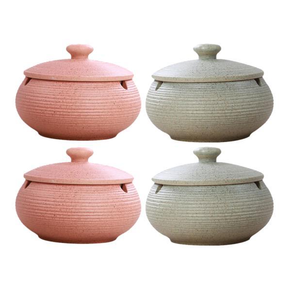 4ピース/個北欧スタイル灰皿セラミック灰皿ふた付きに屋内および屋外での使用