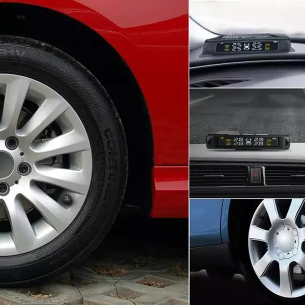 タイヤ空気圧警報モニター RVカー TPMSタイヤ空気圧アラーム モニターシステム ソーラーパワー外部センサー 太陽光発電外部センサー