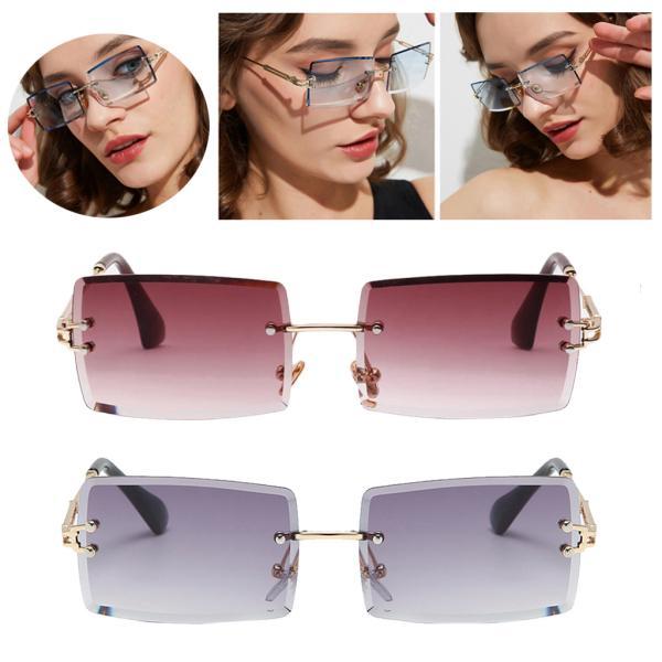 uv400フラットトップシールド眼鏡パーティークラブ 小さな四角いメガネフレームレトロな着色レンズ