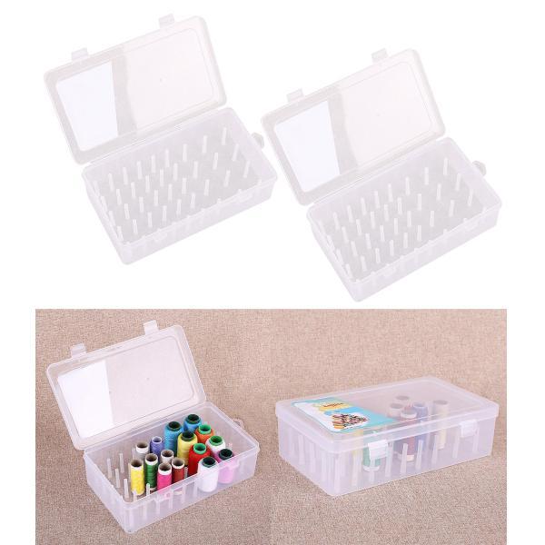 2本糸箱空透明収納容器ミシン糸ホルダー