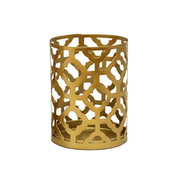 2x卓上鉄キャンドルホルダースタンド中空ミニ燭台ホルダー家の装飾Style1