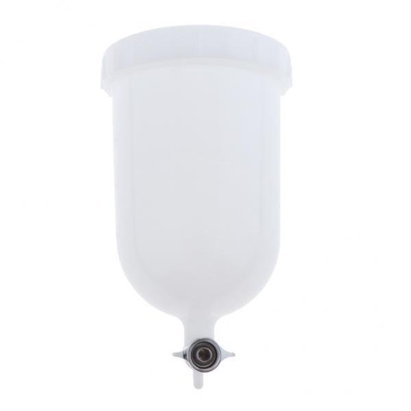 2xCarプラスチック空気重力フィードスプレーペイントガンエアブラシカップポット400ml容量