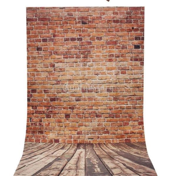 ノーブランド品 1.5m* 1m 茶色 レンガ壁 スタジオ 小道具 写真撮影 背景 背景スタンド