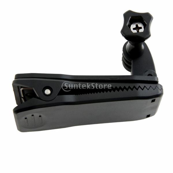 ノーブランド品 GoPro Hero 2/3/3+に適用 ロータリーバックパック帽子ベルトクリップクランプマウント