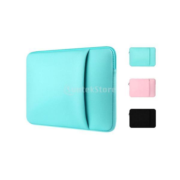 Lovoski  ラップトップバッグ PC収納ボックス スリーブケース ジッパー付き MacBook Pro/ Air対応 全3色4サイズ - 黒, 13インチ