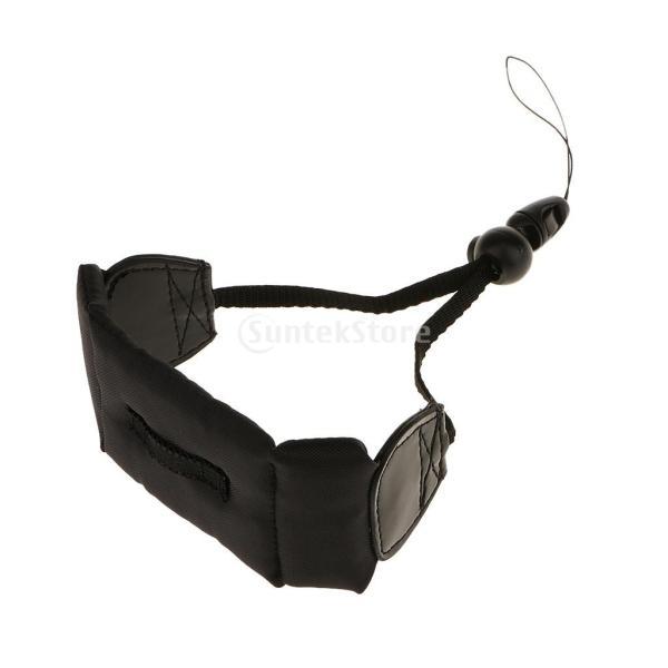 ノーブランド品  GoPro Waterproof カメラに適用  浮動リストストラップ - ワインレッド