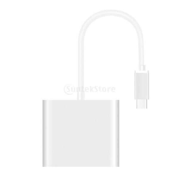 3 in1  マルチポート Type C USB 3.1ハブ  USB-CーUSB 3.0/ HDMI/ 充電アダプタ stk-shop 03