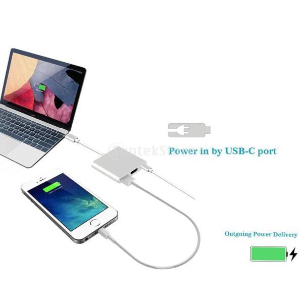 3 in1  マルチポート Type C USB 3.1ハブ  USB-CーUSB 3.0/ HDMI/ 充電アダプタ stk-shop 04