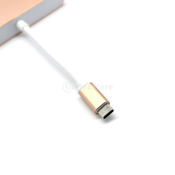 USB3.0 タイプ C to USB3.0 タイプ A + VGA + Type C  マルチポート ハブ アダプタ  2色選べる  - ゴールド|stk-shop|05