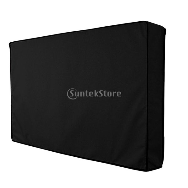 IPOTCH  55 - 58インチ LCD LED用 室外 TVカバー 黒色