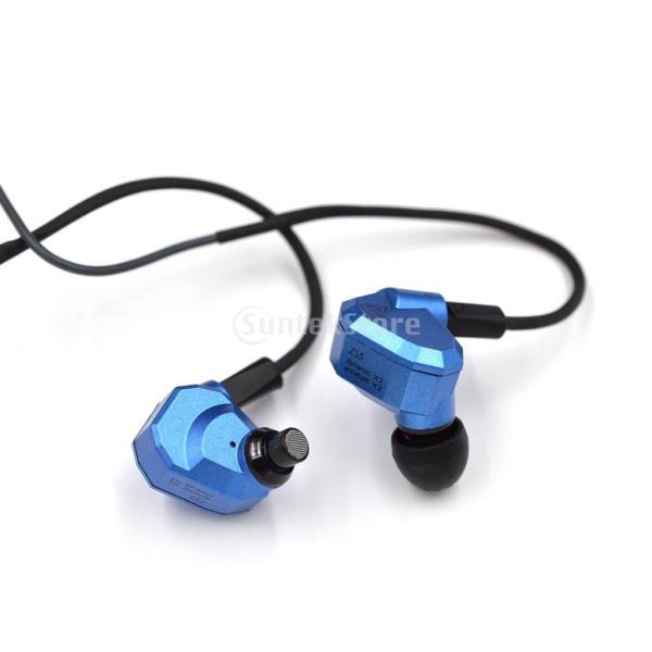 IPOTCH イヤホン ヘッドセット 人間工学  インイヤー 2ピン 高音質 青 全2種 - 標準
