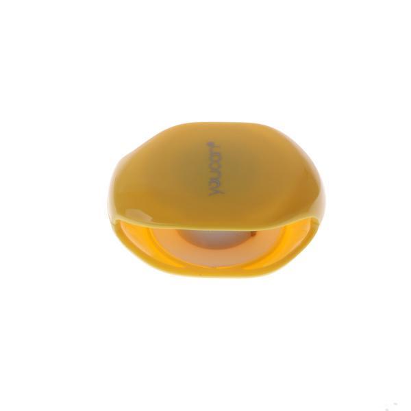 Fenteer コード巻き取り 自動 ワインダー ケーブルオーガナイザー 全3色 イヤホン収納 ホルダー 利便性 - イエロー