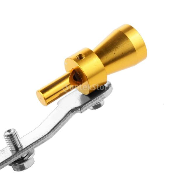 マフラー 排気管 ターボ 音 笛 シミュレータ ウィスラー ホイッスル 車の排気量による サイズ バリエーション (s ゴールド)