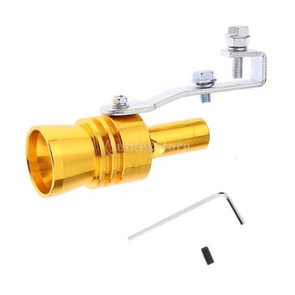 ノーブランド品 マフラー 排気管 ターボ 音 笛 シミュレータ ウィスラー ホイッスル 車の排気量による サイズ バリエーション (XL  ゴールド)