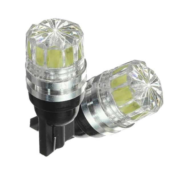 Dovewill  2個 ホワイト 12V T10 5050 5 SMD LED 電球ランプ サイドマーカー ターンシグナルライト