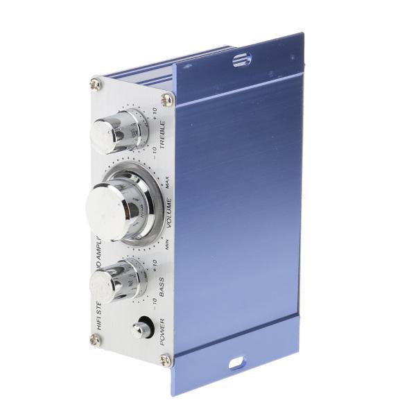 送料無料 12V ミニHi-Fi ステレオ アンプ PC、MP3、ホームオーディオ入力 家庭用オーディオ用 ブルー|stk-shop|04