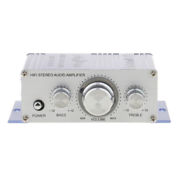 送料無料 12V ミニHi-Fi ステレオ アンプ PC、MP3、ホームオーディオ入力 家庭用オーディオ用 ブルー|stk-shop|06