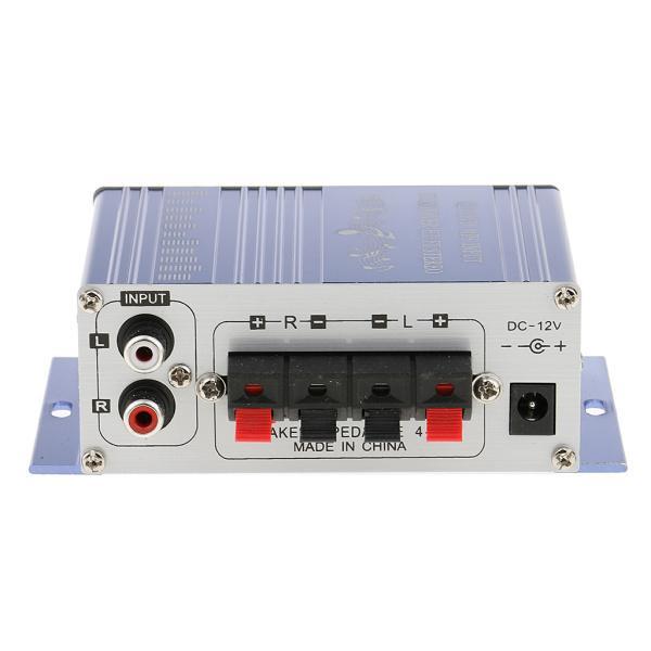 送料無料 12V ミニHi-Fi ステレオ アンプ PC、MP3、ホームオーディオ入力 家庭用オーディオ用 ブルー|stk-shop|07