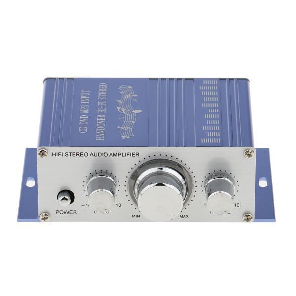 送料無料 12V ミニHi-Fi ステレオ アンプ PC、MP3、ホームオーディオ入力 家庭用オーディオ用 ブルー|stk-shop|08