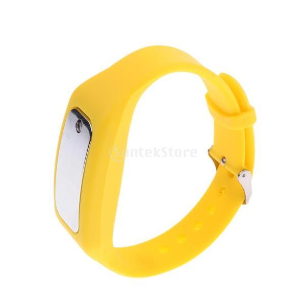 Fenteer ブレスレット 1ピース 全2色 静電気除去グッズ  静電気除去ブレスレット 静電気防止ブレスレット  - 黄