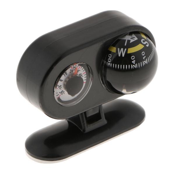温度計付き2イン1カーコンパスにこの車の室内装飾黒