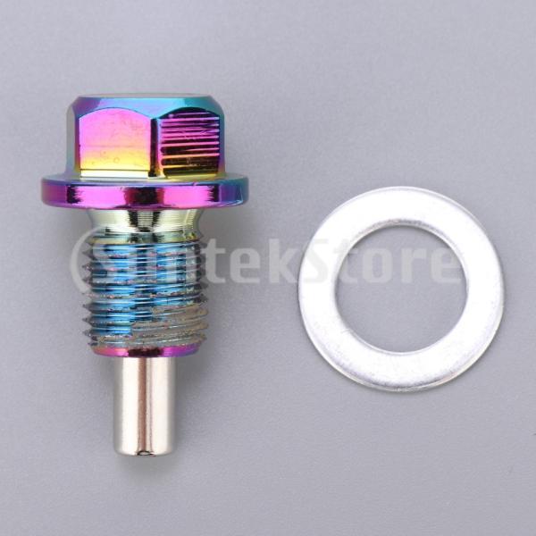 アルミ合金磁気エンジンオイルパンドレンボルトスクリューwガスケットM12×1.25|stk-shop