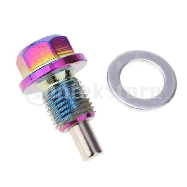 アルミ合金磁気エンジンオイルパンドレンボルトスクリューwガスケットM12×1.25|stk-shop|04