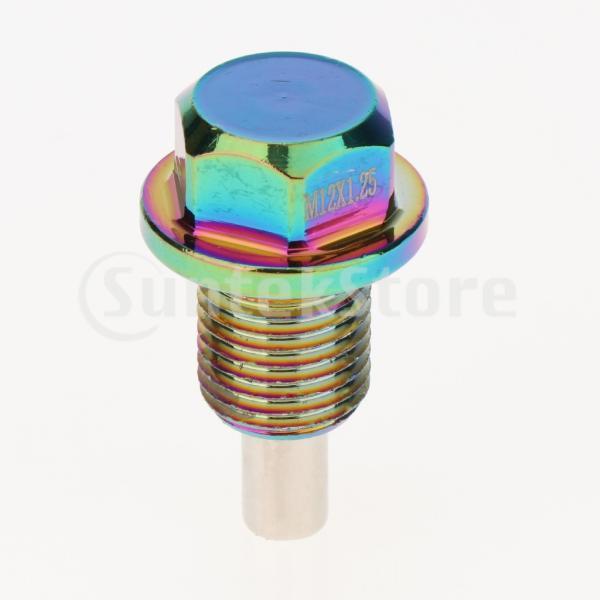 アルミ合金磁気エンジンオイルパンドレンボルトスクリューwガスケットM12×1.25|stk-shop|08