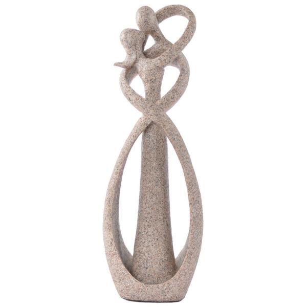 砂岩抽象彫刻の恋人像の彫刻手彫りの置物装飾|stk-shop