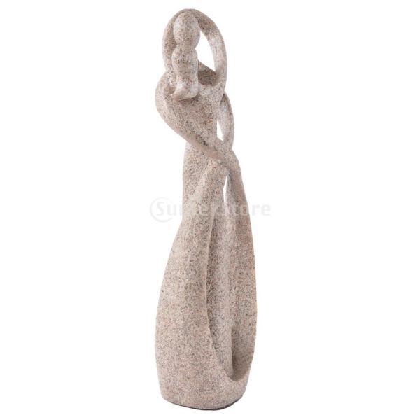 砂岩抽象彫刻の恋人像の彫刻手彫りの置物装飾|stk-shop|04
