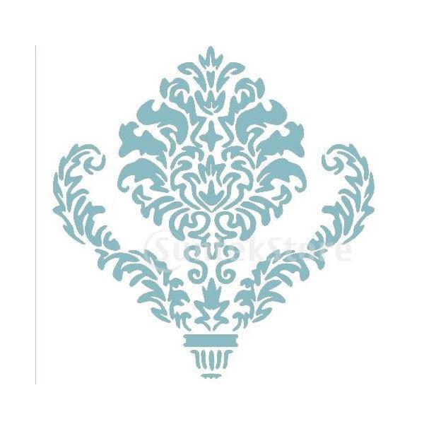 【ノーブランド 品】対称図形 壁画 ステンシルパターン ホーム アート DIY 装飾 再利用可能|stk-shop