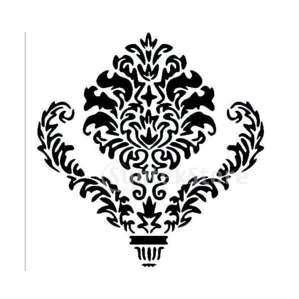 【ノーブランド 品】対称図形 壁画 ステンシルパターン ホーム アート DIY 装飾 再利用可能|stk-shop|02