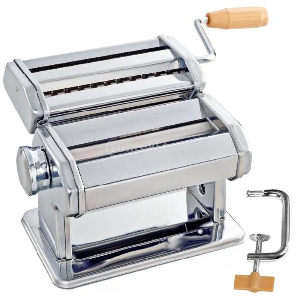 3イン1 ステンレス製 お家で生麺 パスタ ラザニア スパゲッティ メーカー マシン カッター パスタマシン