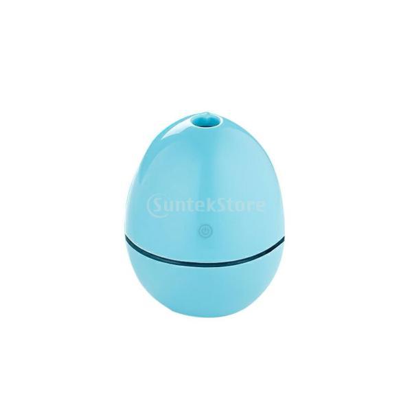 ノーブランド品 ABSプラスチック製 2W USB ポータブル 卵形 加湿器 アロマディフューザー 空気 アトマイザー stk-shop