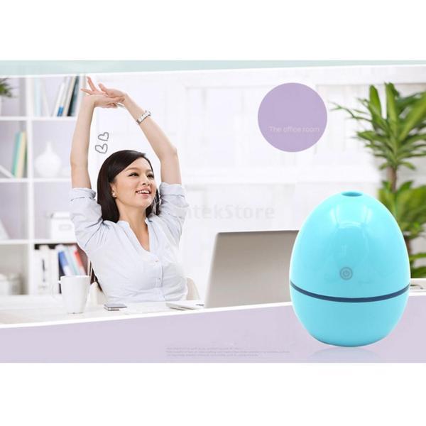ノーブランド品 ABSプラスチック製 2W USB ポータブル 卵形 加湿器 アロマディフューザー 空気 アトマイザー stk-shop 13