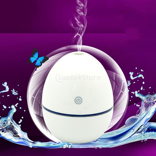 ノーブランド品 ABSプラスチック製 2W USB ポータブル 卵形 加湿器 アロマディフューザー 空気 アトマイザー stk-shop 16