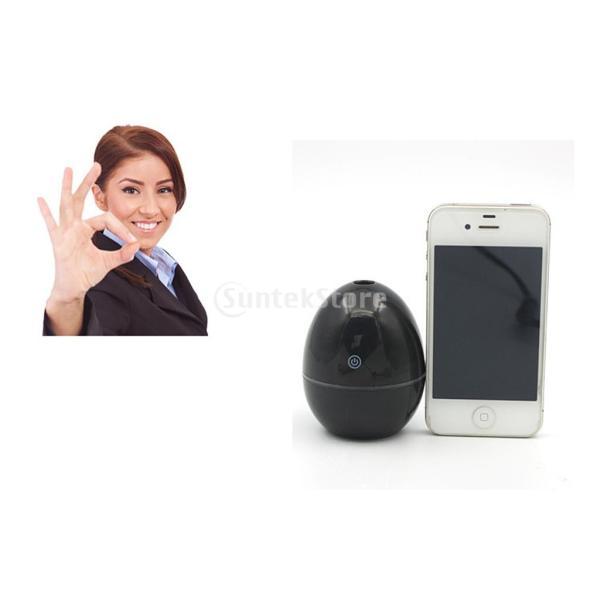 ノーブランド品 ABSプラスチック製 2W USB ポータブル 卵形 加湿器 アロマディフューザー 空気 アトマイザー stk-shop 04