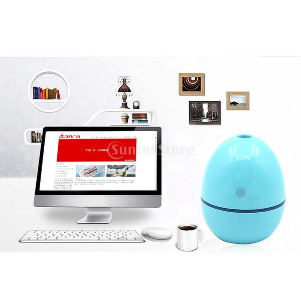 ノーブランド品 ABSプラスチック製 2W USB ポータブル 卵形 加湿器 アロマディフューザー 空気 アトマイザー stk-shop 10