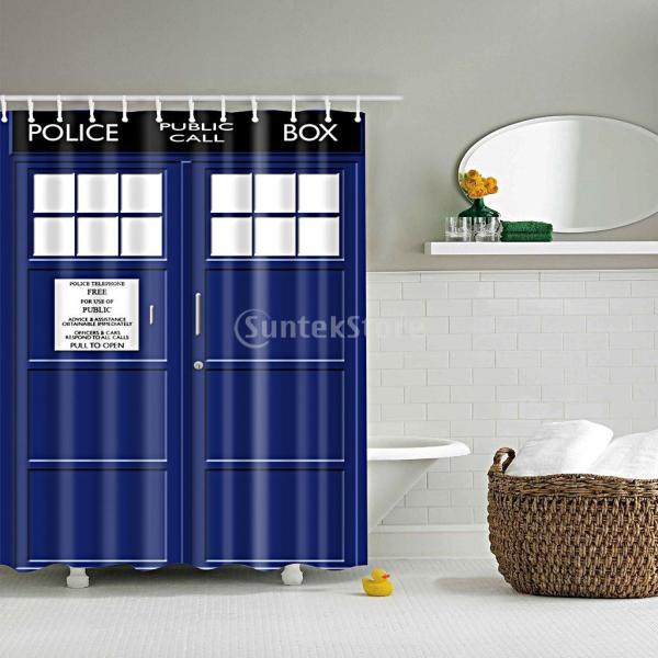 全19種類選ぶ 浴室 防水 シャワーカーテン おしゃれ 気分転換 優雅 魅力 薄手 パネル 装飾 フック ポリエステル製  - 画像6